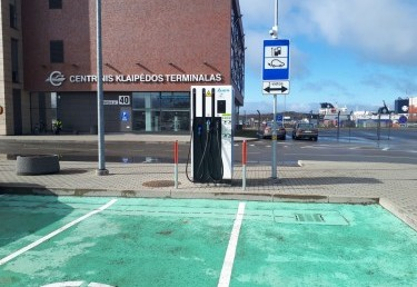 The charging station and its engineering networks in Klaipeda
