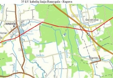 Reconstruction of Ramygala - Raguva 35 kV over-ground line.