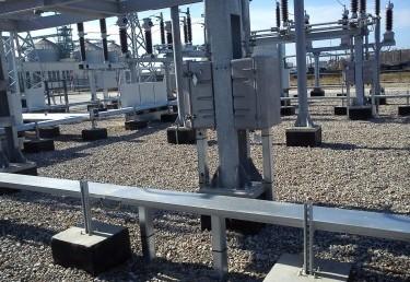 110/15 kV TP Soja su 110 kV linijų užvedimais.